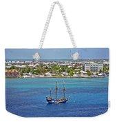 Pirate Ship In Cozumel Weekender Tote Bag