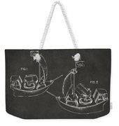 Pirate Ship Patent Artwork - Gray Weekender Tote Bag by Nikki Marie Smith