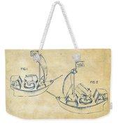 Pirate Ship Patent Artwork - Vintage Weekender Tote Bag