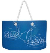 Pirate Ship Patent - Blueprint Weekender Tote Bag by Nikki Marie Smith