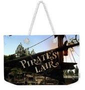 Pirates Lair Signage Frontierland Disneyland Weekender Tote Bag