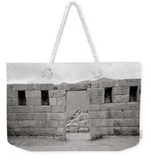 Pisac Architecture Weekender Tote Bag
