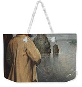 Pissing At The Moon  Weekender Tote Bag by Pieter the Younger Brueghel