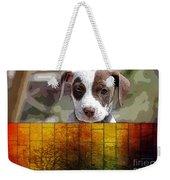 Pitbull Puppy Weekender Tote Bag