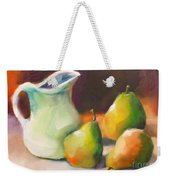 Pitcher And Pears Weekender Tote Bag by Michelle Abrams