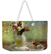 Pitcher Of Snapdragons Weekender Tote Bag by Diana Angstadt