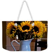 Pitcher Of Sunflowers Weekender Tote Bag
