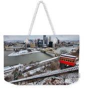 Pittsburgh Duquesne Incline Winter Weekender Tote Bag