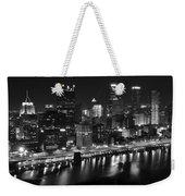 Pittsburgh Black And White Night Weekender Tote Bag