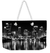 Pittsburgh Black And White Panorama Weekender Tote Bag