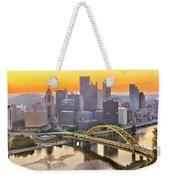Pittsburgh Incline Sunrise Panorama Weekender Tote Bag