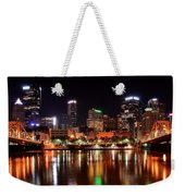 Pittsburgh Panorama Weekender Tote Bag by Frozen in Time Fine Art Photography