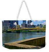 Pittsburgh Pennsylvania Skyline And Bridges As Seen From The North Shore Weekender Tote Bag