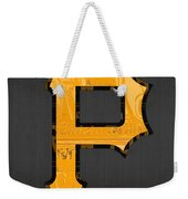 Pittsburgh Pirates Baseball Vintage Logo License Plate Art Weekender Tote Bag