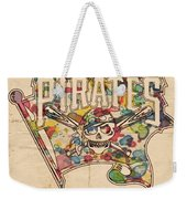 Pittsburgh Pirates Poster Art Weekender Tote Bag