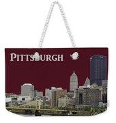 Pittsburgh Poster Weekender Tote Bag