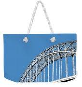Pittsburgh Skyline 16th St. Bridge - Slate Weekender Tote Bag