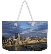 Pittsburgh Skyline At Dusk Weekender Tote Bag
