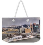 Pittsburgh's First Snow Of 2015 Weekender Tote Bag