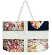 Pizza Weekender Tote Bag by Les Cunliffe