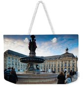 Place De La Bourse Buildings At Dusk Weekender Tote Bag