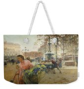 Place Du Theatre Francais Paris Weekender Tote Bag by Eugene Galien-Laloue