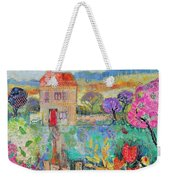 Place In The Country, 2014, Acrylicpaper Collage Weekender Tote Bag