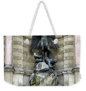 Place Saint Michel Statue And Fountain In Paris France Weekender Tote Bag