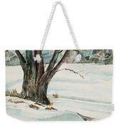 Placid Winter Morning Weekender Tote Bag