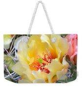 Plains Prickly Pear Flower Weekender Tote Bag