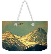 Plane Flying Over Mountains Weekender Tote Bag
