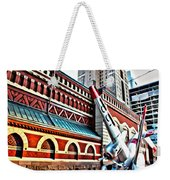 Plane In The City Weekender Tote Bag