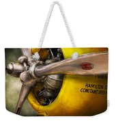 Plane - Pilot - Prop - Twin Wasp Weekender Tote Bag by Mike Savad