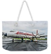 Plane Props On Capital Airlines Weekender Tote Bag by Paul Ward