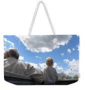 Plane Viewing From The Truck Bed Weekender Tote Bag