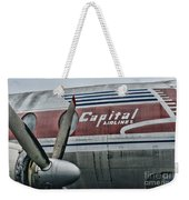 Plane Vintage Capital Airlines Weekender Tote Bag by Paul Ward