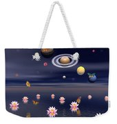 Planets Of The Solar System Surrounded Weekender Tote Bag