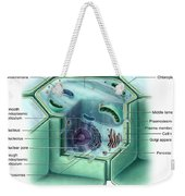 Plant Cell, Illustration Weekender Tote Bag