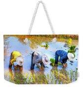 Planting Rice Weekender Tote Bag