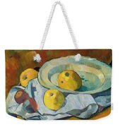 Plate Of Apples Weekender Tote Bag by Paul Serusier