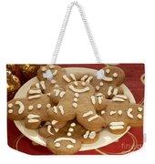 Plateful Of Gingerbread Cookies Weekender Tote Bag by Juli Scalzi