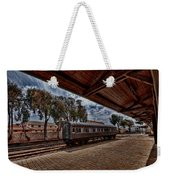 platform view of the first railway station of Tel Aviv Weekender Tote Bag by Ron Shoshani