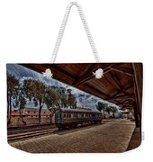 platform view of the first railway station of Tel Aviv Weekender Tote Bag
