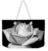 Platinum Rose Flower Weekender Tote Bag