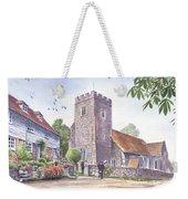 Plaxtol Church Wedding Weekender Tote Bag