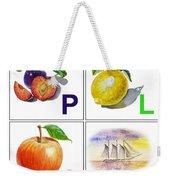 Play Art Alphabet For Kids Room Weekender Tote Bag by Irina Sztukowski