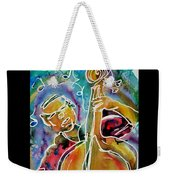 Play The Blues Bass Man Weekender Tote Bag