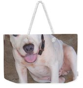Playful Pitbull Puppy Haaweo Weekender Tote Bag
