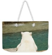 Playful Polar Bear Weekender Tote Bag by Adam Romanowicz
