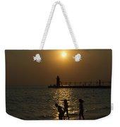Playful Sunset Weekender Tote Bag